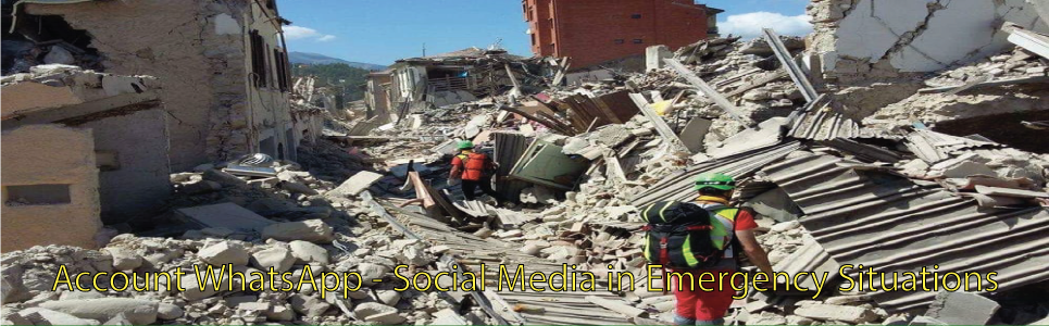 Account WhatsApp - Social Media in Emergency Situations - Maxi Emergenze